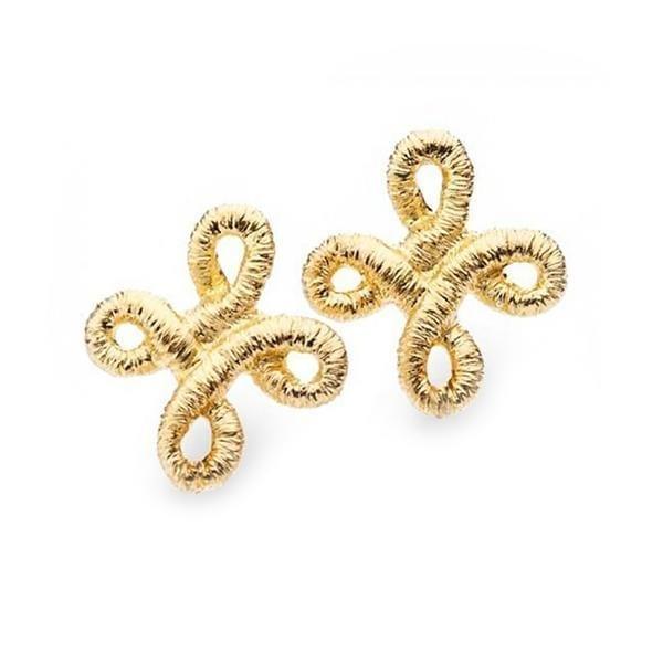 18k Yellow Gold Pique Dame Earrings Designyard