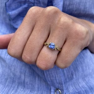 Beth Gilmour Blue Sapphire Ring