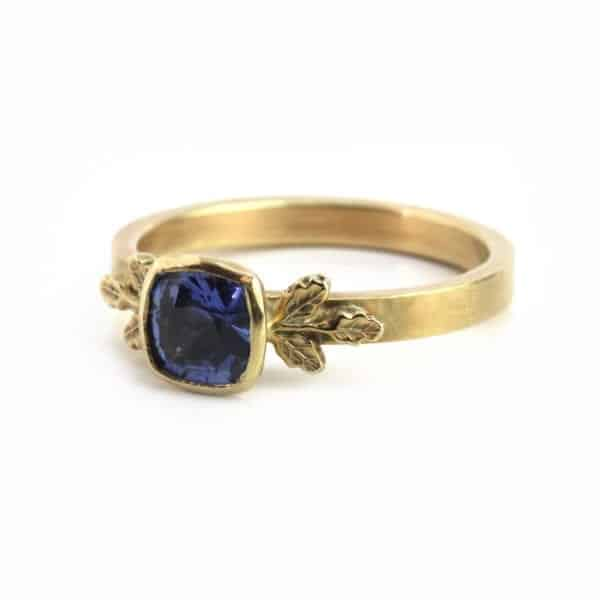 Beth Gilmour Contemporary Blue Sapphire Ring
