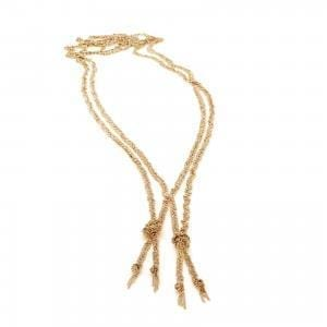 Sterling Silver Yellow Gold Plated Double Twist Necklace DesignYard