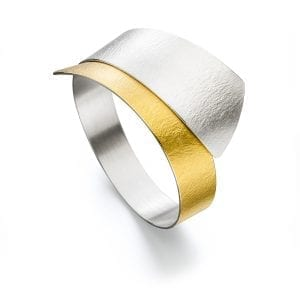 Sterling Silver 22k Yellow Gold BiMetal Statement Bracelet DesignYard