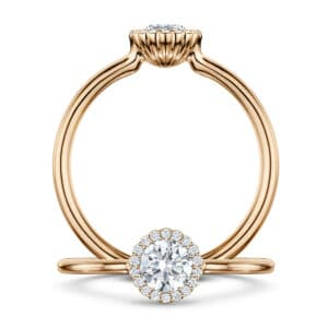 andrew geoghegan 18k rose gold diamond cannele engagement ring designyard contemporary jewellery gallery dublin ireland