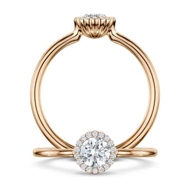 andrew geoghegan 18k rose gold diamond cannele engagement ring designyard contemporary jewellery gallery dublin ireland