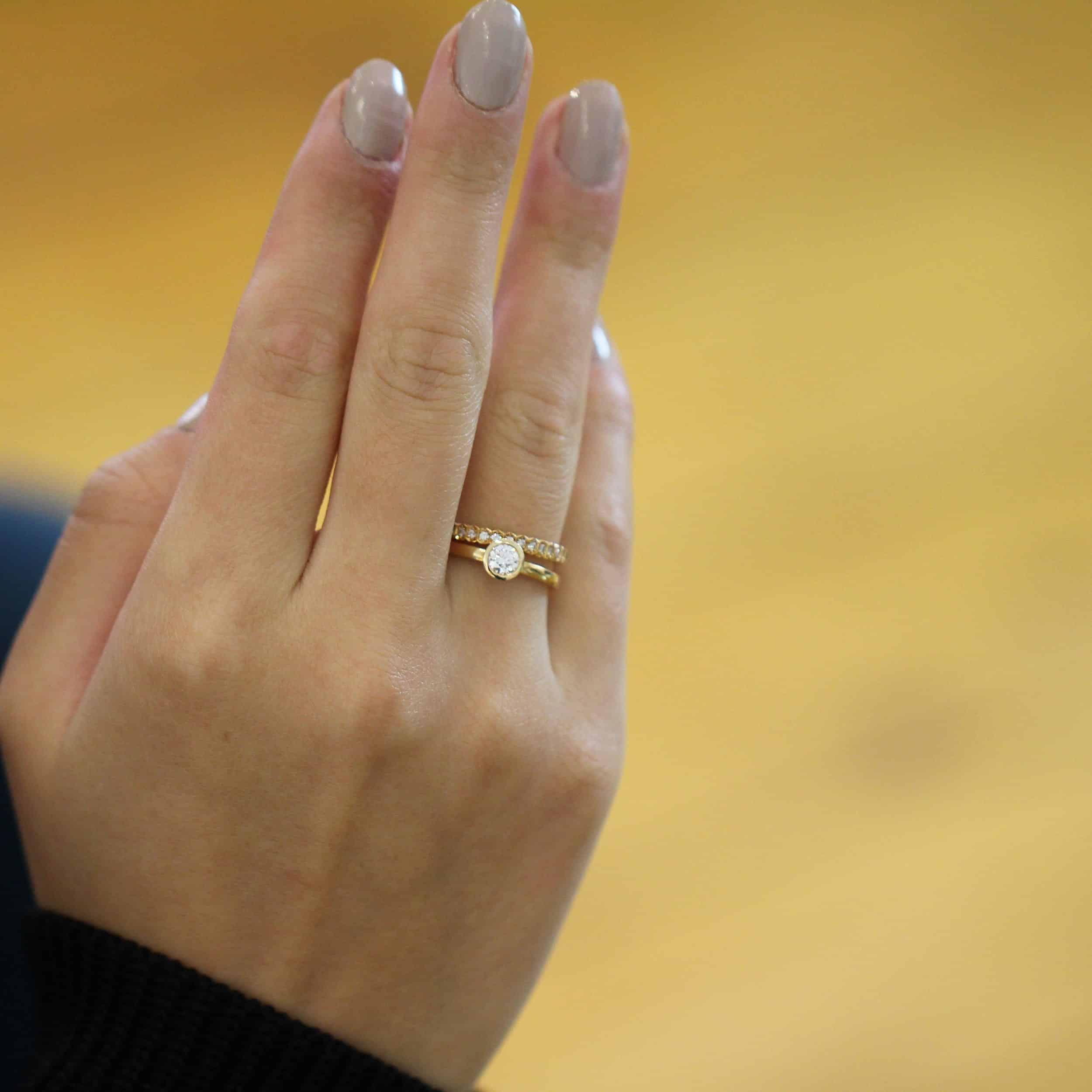 andrew geoghegan 18k rose gold diamond gabriel engagement ring designyard contemporary jewellery gallery dublin ireland