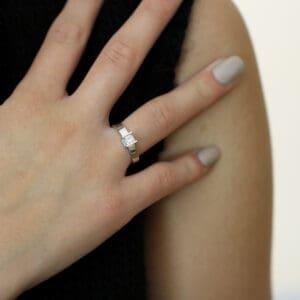andrew geoghegan 18k white gold diamond box engagement ring designyard contemporary jewellery gallery dublin ireland