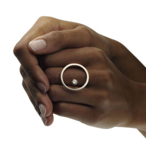 angela hubel 18k white gold treasure island diamond statement ring designyard contemporary jewellery gallery dublin ireland handmadejewelry design designer irish jewellers shop