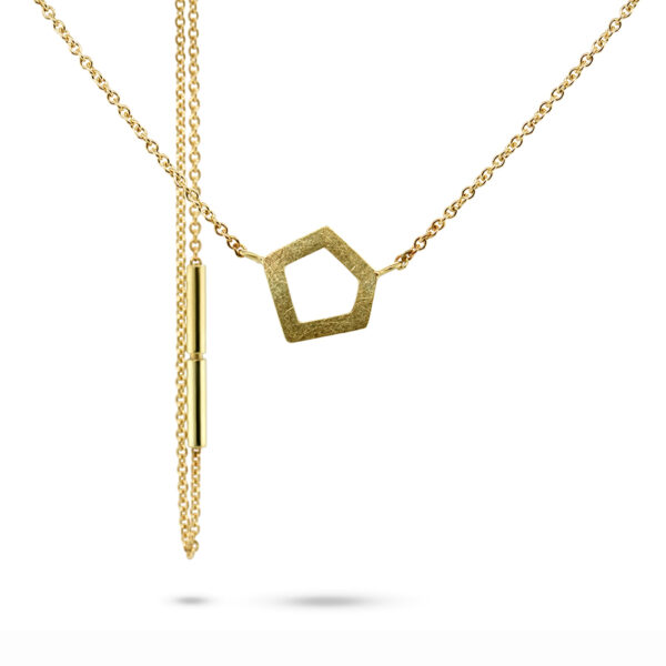 atelier luz 14k yellow gold g-metriq necklace designyard contemporary jewellery gallery dublin ireland handmade jewelry design designer irish jewellers shop