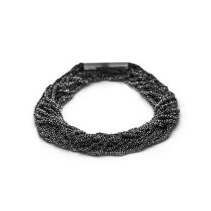 claudia milic silver black rhodium shine double bracelet designyard contemporary jewellery gallery dublin ireland handmade jewelry design designer jewellers shop