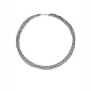 claudia milic silver rhodium shine collier necklace designyard contemporary jewellery gallery dublin ireland handmade jewelry design designer jewellers shop