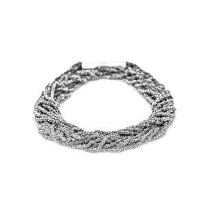 claudia milic silver rhodium shine double bracelet designyard contemporary jewellery gallery dublin ireland handmade jewelry design designer jewellers shop irish