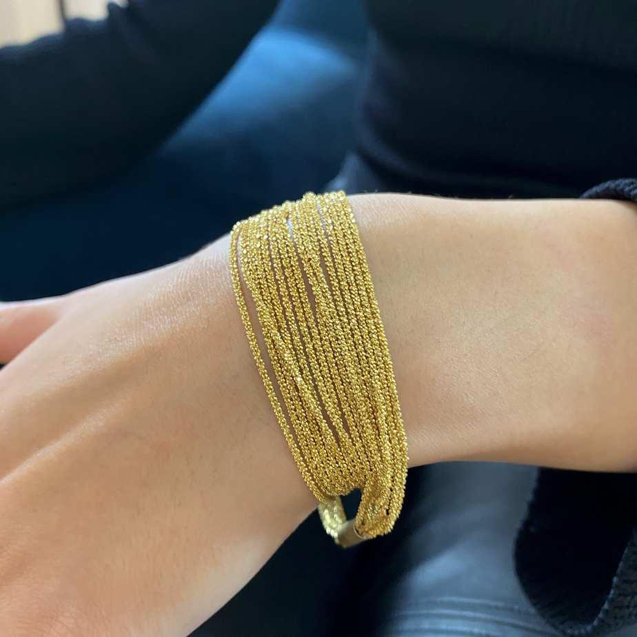 claudia milic sterling silver yellow gold plated shine bracelet designyard contemporary jewellery gallery dublin ireland