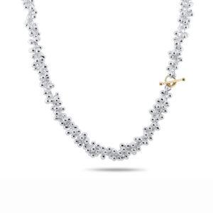 neeltje huddleston slater 14k yellow gold double silver necklace designyard contemporary jewellery gallery dublin ireland handmade jewelry design designer irish jewellers shop