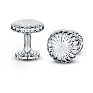 Silver Polished Cannele Cufflinks Designyard