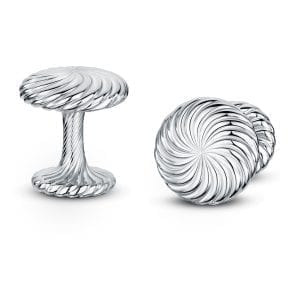 Silver Cannele Twist Cufflinks