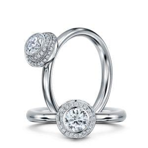 Platinum Diamond Clair De Lune Engagement Ring Designyard