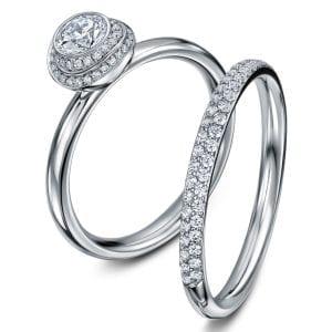 Platinum Diamond Clair De Lune Wedding Ring Designyard