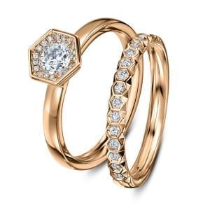 18k Rose Gold Diamond Chapiteau Wedding Ring Designyard