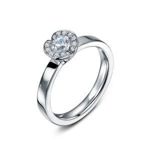 18k White Gold Diamond Fission Engagement Ring Designyard