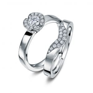 18k White Gold Diamond Fission Engagement Ring