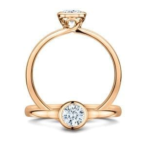 18k Rose Gold Diamond Gabriel Engagement Ring