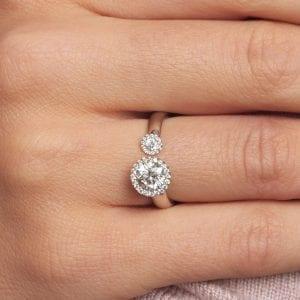 Bespoke Platinum Diamond Satellite Engagement Ring