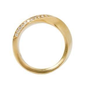 18k Rose Gold Swing Diamond Wedding Ring