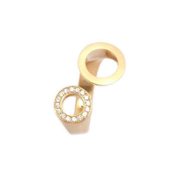 18k Yellow Gold Diamond Ping Pong Engagement Ring Designyard