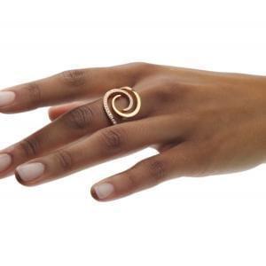 18k Rose Gold Windrose Diamond Ring