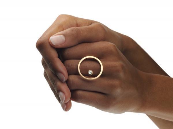18k Rose Gold Treasure Island Cognac Diamond Ring Designyard