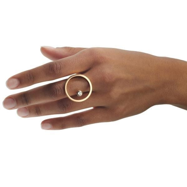 18k Rose Gold Treasure Island Cognac Diamond Ring