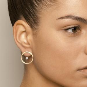 18k Rose Gold Treasure Island Cognac Diamond Earrings