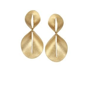 14k Yellow Gold Nina Drop Earrings Designyard