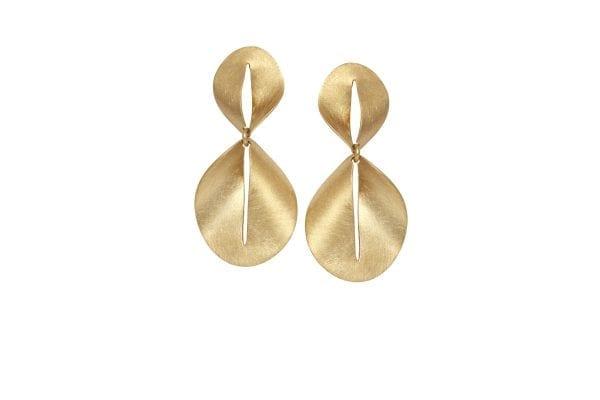 14k Yellow Gold Nina Drop Earrings Designyard