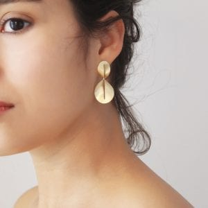 14k Yellow Gold Nina Drop Earrings