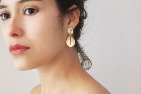 14k Yellow Gold Nina Drop Earrings