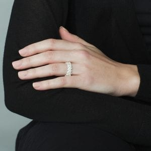 Sterling Silver Bordure Ring