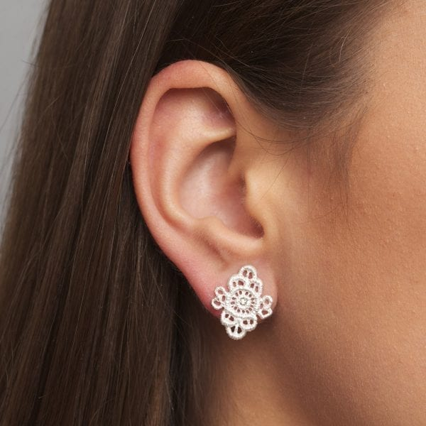 Sterling Silver Champagne Diamond Piccolo Turandot Earrings