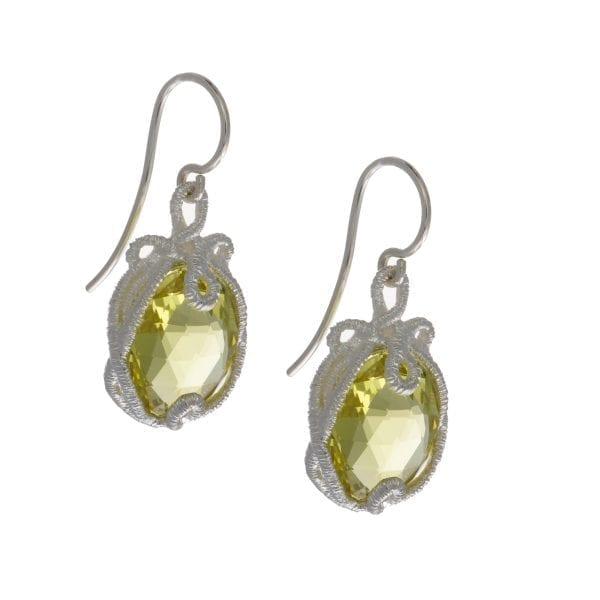 Sterling Silver Lemon Citrine Undine Earrings DesignYard