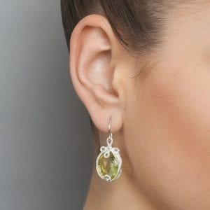 Sterling Silver Lemon Citrine Undine Earrings