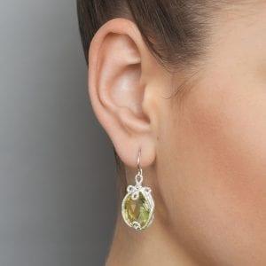 Sterling Silver Lemon Citrine Undine Earrings