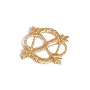 18k Yellow Gold Diamond Multi-Wear Lace Brooch Pendant Designyard