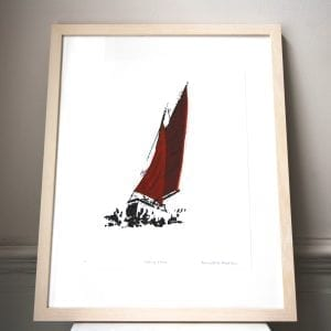 Sailing Home Screen Print Framed Pieces DesignYard