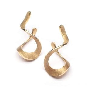 14k Yellow Gold Curl Earrings DesignYard
