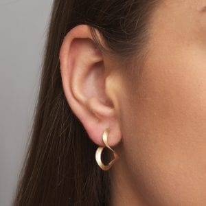 14k Yellow Gold Curl Earrings
