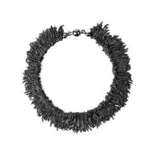 Sterling Silver Black Rhodanized Siara Bracelet