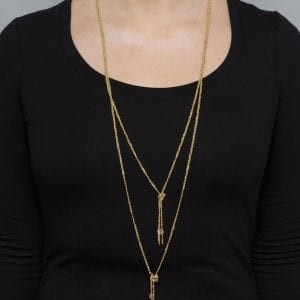 Sterling Silver Yellow Gold Plated Double Twist Necklace