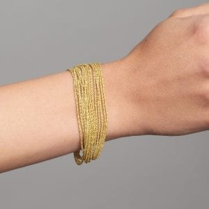 Sterling Silver Yellow Gold Plated Shine Bracelet