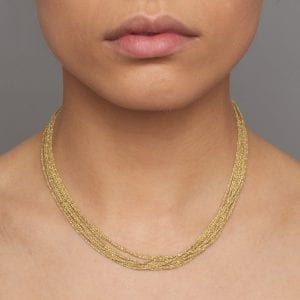 Sterling Silver Yellow Gold Plated Shine Necklace