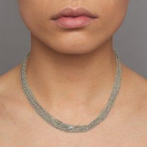 Sterling Silver Rhodanized Shine Necklace