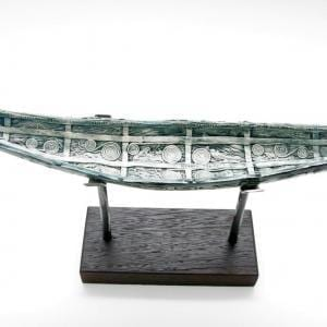 Ceramic Large Soul Boat On Stand